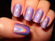 cute, glitter, lavender, nails, nubar, shiny