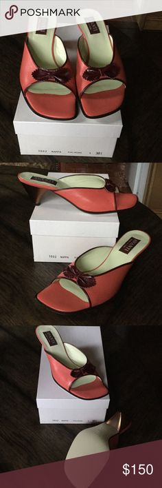 3c3df5ecc Selling this Avanti leather slide sandals on Poshmark! My username is   njbatts.