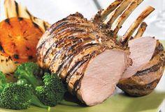 Carré de porc à l'orange et à la moutarde sur le BBQ Mets, Barbecue, Good Food, Guide, Camping, Table, Planks, Meat, Cooking Recipes