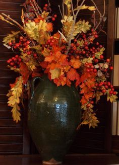pretty autumn floral arrangement