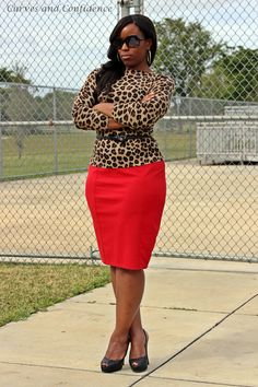 Can't go wrong with Leopard**Jazzie Style ** Curves and Confidence Curvy Girl Fashion, Work Fashion, Plus Size Fashion, Fashion Fashion, Fashion Outfits, Girls Work, Style Miami, Miami Mode, Curves And Confidence