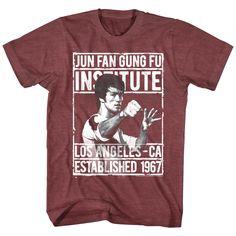 bdb8aa53f Bruce Lee Jun Fan Gung Fu Institute Los Angeles California 1967 Mens T Shirt  #BruceLee