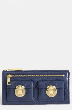 MARC JACOBS 'Zip Deluxe' Leather Wallet...In the market for a wallet...