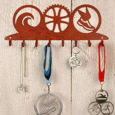 Triathlon Art Symbols Medal Rack | Medal Display Racks, Medal Holders