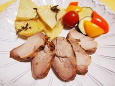 塩麹漬け豚肉のメープルマスタードオーブン焼き