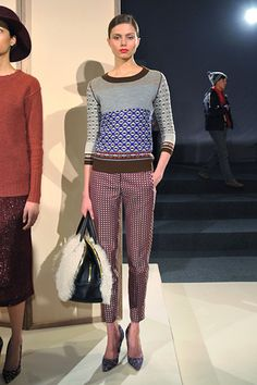 j.crew presentation. New york fashion week. I need this sweater.