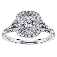 @Overstock.com - 14k White Gold 1 1/2 Ct TW Micro Pave Set Princess Cut Designer Halo Engagement Ring - Designer Halo Engagement Ring14k White Gold JewelryClick here for ring sizing guide   http://www.overstock.com/Jewelry-Watches/14k-White-Gold-1-1-2-Ct-TW-Micro-Pave-Set-Princess-Cut-Designer-Halo-Engagement-Ring/7984530/product.html?CID=214117 $3,507.99