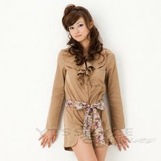 Buy 'ageha@shibuya – Long-Sleeve Ruffled Tie-Sash Playsuit' with Free International Shipping at YesStyle.com. Browse and shop for thousands of Asian fashion items from Japan and more!