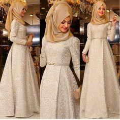 I don't wear a hijab but this dress is so pretty Islamic Fashion, Muslim Fashion, Modest Fashion, Hijab Fashion, Fashion Outfits, Trend Fashion, Girl Fashion, Fashion 2016, Hijab Dress Party
