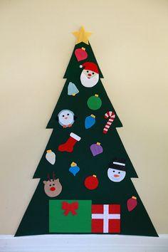Felt Christmas Tree Felt Wall Tree Kid's by ForYourMunchkin