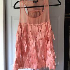 Peach Top Shop Blouse Size 4 Topshop tank blouse. Never worn. Topshop Tops Tunics