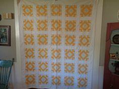 Vintage, Antique Pieced Quilt, Cutter Quilt, Drunkards Path by FairchildsInc on Etsy