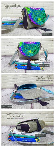 Sweet pea Saddle Bag - FREE crossbody bag pattern - Sew Modern Bags
