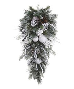 Take a look at this Snow Ball & Pine Cone Garland on zulily today!