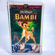 New Bambi VHS Tape Walt Disney Masterpiece Sealed