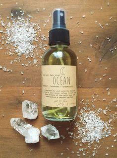 ocean ~ a mediterrean sea salt & coconut oil, with orange, lavender, and grapefruit essential oils ~ beach hair spray  dreadlocks