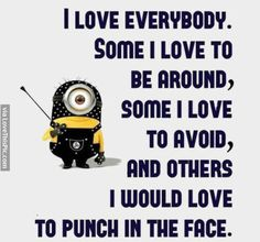 50 Hilariously Funny Minion Quotes With Attitude funny quotes quote jokes attitude lol funny quote funny quotes funny sayings hilarious minion minions sarcastic minion quotes Minion Humor, Funny Minion Memes, Minions Quotes, Funny Texts, Funny Jokes, Hilarious, Minion Sayings, Minion Love Quotes, Minions Love