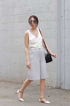 grey culottes outfit // Elements of Ellis