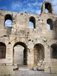 Athens, Greece.  Odeon of Herodes Atticus.