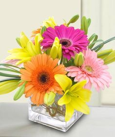 This dazzling arrangement will give any home or office a touch of Spring year round! http://ift.tt/2nC5Ewa!  #MarcoIslandFlorist - http://ift.tt/1HQJd81
