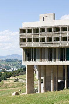 SAINTE MARIE DE LA TOURETTE | ÉVEUX | Nr. LYON | RHÔNE-ALPES | FRANCE: *Built: 1956-1960; Architects: Le Corbusier & Lannis Xenakis*