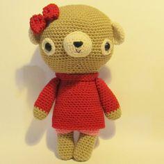 NEW-- Huggable Amigurumi Teddy crochet pattern (15 inches/38 cms tall) - PDF Digital Download