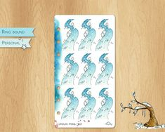 JANUARY 2019 - Watercolor Stickers For Winter Times, Perfectly Fitting Personal Sized Planners : 9 Snowy Roads Watercolor Stickers, Ring Binder, Winter Time, Roads, Planners, January, Times, Unique Jewelry, Handmade Gifts