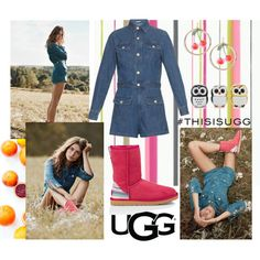 Play With Prints In UGG: Contest Entry by kc-spangler on Polyvore featuring AG Adriano Goldschmied, Alexis Bittar, Forever 21, UGG Australia and thisisugg