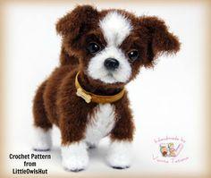 Crochet Shih Tzu puppy dog by Tatiana Visota. Crochet pattern from LittleOwlsHut