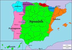Post with 20299 views. Languages of Spain and Portugal × Social Studies Worksheets, European Languages, Words To Use, History Timeline, Flags Of The World, Spain And Portugal, Historical Maps, Spanish Language, World History