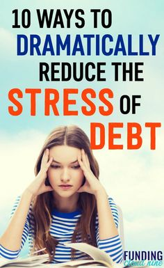 Worrying about finances can be all-consuming. Find out how to reduce your debt stress and anxiety and overcome your debt problems. Debt Repayment, Debt Payoff, Debt Consolidation, Planning Budget, Financial Planning, Paying Off Credit Cards, Student Loan Debt, Get Out Of Debt, Look Here