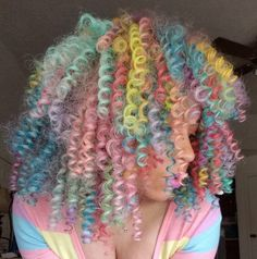 Hair Dye Colors, Cool Hair Color, Crown Paint Colours, Paint Colors, Curly Hair Styles, Natural Hair Styles, Hair Reference, Dye My Hair, Aesthetic Hair