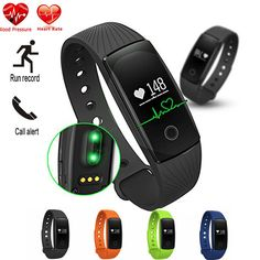 Smart Band ID107 Heart Rate Smart Bracelet Watch Heart Rate Monitor Smart Band Wireless Fitness Tracker Wristband For Android (Black). Sports Pedometer Wristband with Multi Function: Display date and time,heart rate monitor, tracking steps, record running and walking distance(km),calorie counter, sleep monitor. Fitness Tracker Need App to Connect with Smartphone: Before use the pedometer. Please download app on your smartphone, and connect wristband watch with your smartphone by…