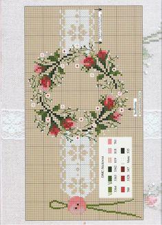 Pillows borders - rose wreath border