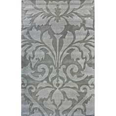 Modern Damask 8x11 Gray Rug by nuLOOM