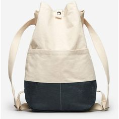 Everlane Women's Beach Canvas Backpack (25.895 CLP) ❤ liked on Polyvore featuring bags, backpacks, canvas drawstring bags, pink canvas backpack, snap backpack, waxed canvas bag and canvas drawstring backpack