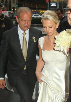 Kelsey Grammer married Kayte Walsh on stage at the Longacre Theatre in New York City on February 25, 2011.