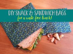 Learn how to make reusable DIY snack & sandwich bags for waste-free lunches and on-the-go snacking - with this easy sewing tutorial. | zero waste | snack bags | reusable lunch gear | simple sewing project