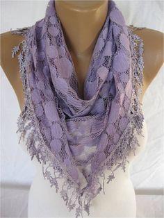 Lace Scarf Shawl Elegant Scarf Fashion Scarf by SmyrnaShop, $14.90