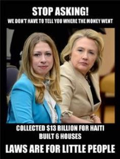 50% went to the 'Clinton Foundation' & 49% went Haitian corrupt gov leaders. EVIL GREED