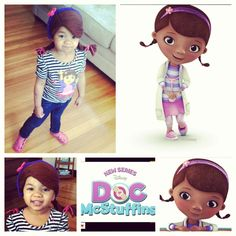 Crochet - Kid's Doc McStuffins crocheted hat. Buy at Paisley Faye Crochet contact: paisleyfayecrochet@gmail.com or Instagram: @paisleyfayecrochet