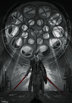 The Astral ClockTower (by jawlipops) Dark Blood, Old Blood, Dark Souls Art, Dark Art, Lady Maria, Dark Fantasy, Fantasy Art, Soul Saga, Bloodborne Art