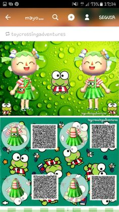 ㅡㅡㅡㅡ Animal Crossing Qr Codes Clothes, Animal Crossing Game, Types Of Animals, Cute Animals, Theme Nature, Motif Acnl, Ac New Leaf, Happy Home Designer, Rainbow Painting