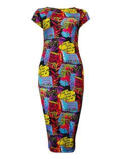 Graffiti Midi Dress   £8.99!  www.exciteclothing.com