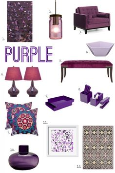 I'm not sure if I should blame it on the season, but lately I have been totally obsessed with purple. Here are some of my favorite plum-inspired accessories! Details here: http://www.bhg.com/blogs/better-homes-and-gardens-style-blog/2013/11/11/for-the-love-of-color-purple/