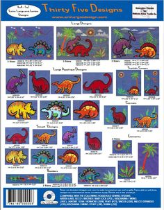 Anita Goodesign Embroidery  Collection,  Dinosaurs, 35 Designs,  Pes, Hus, Jef  Instant Download von CreaInvento auf Etsy