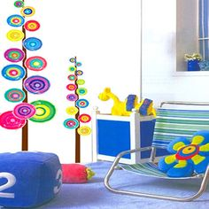 [Free Shipping] Circle Trees KIDS ROOM Adhesive Removable Wall Decor Stickers