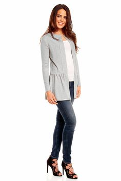 Szara tunika damska Work Fashion, That Look, Amazon, Blouse, Long Sleeve, Sleeves, Tops, Women, Style