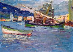 416 best images about kandinsky paintings on Wassily Kandinsky, Abstract Landscape, Landscape Paintings, Abstract Art, Cavalier Bleu, Franz Marc, Monet, Boat Painting, Paul Klee