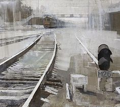 Alexey Alpatov, elektrougli station, 2008 (fragment) - mixed media on canvas, 120/260cm